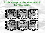 little change in the structure of la nina events