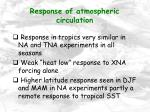 response of atmospheric circulation