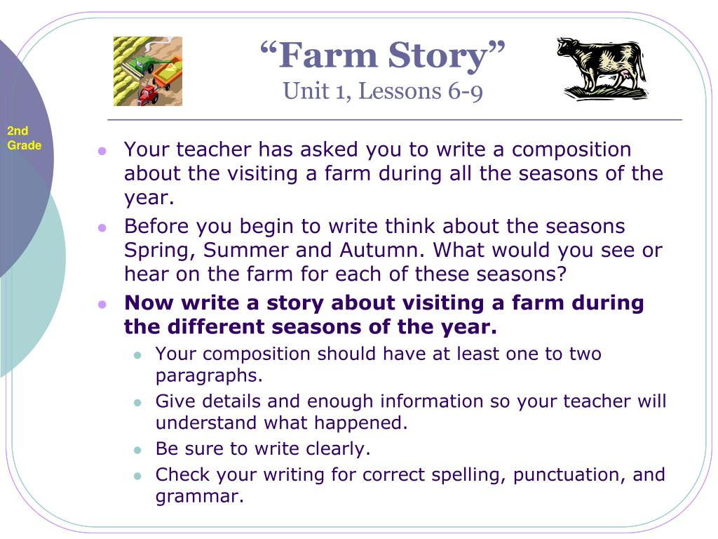 farm story unit 1 lessons 6 9 l.