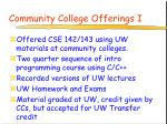 community college offerings i