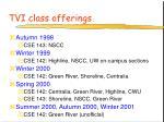 tvi class offerings