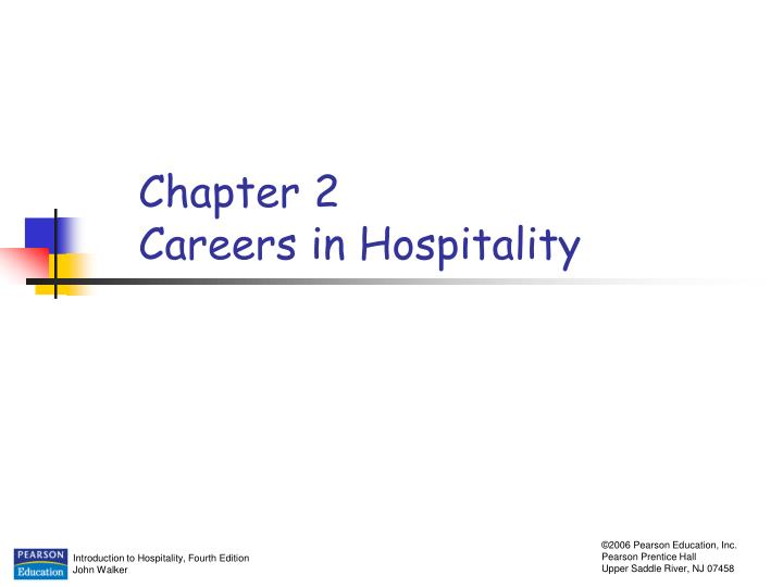 chapter 2 careers in hospitality n.