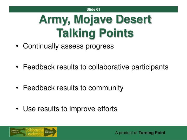 Army, Mojave Desert