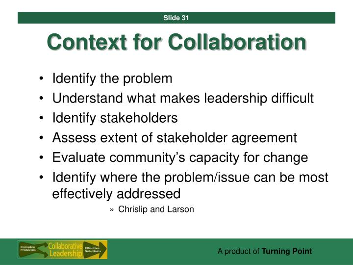 Context for Collaboration