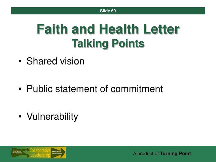 Faith and Health Letter