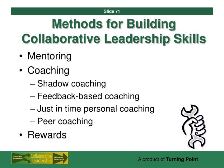 Methods for Building Collaborative Leadership Skills