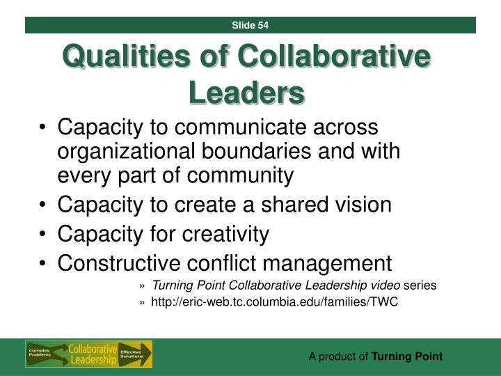 Qualities of Collaborative Leaders