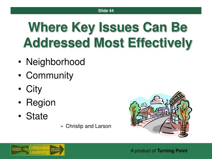 Where Key Issues Can Be Addressed Most Effectively