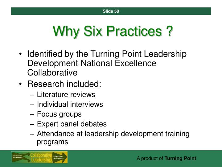 Why Six Practices ?