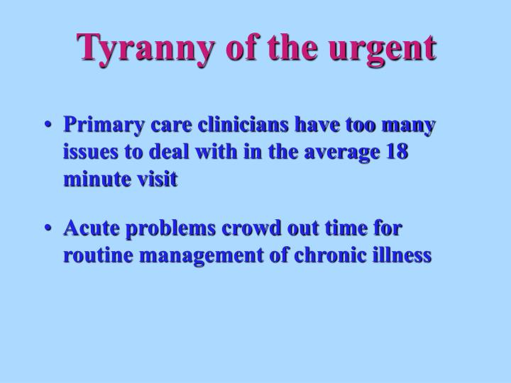 Ppt Planned Chronic Care Visits Powerpoint Presentation