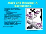 race and housing a background