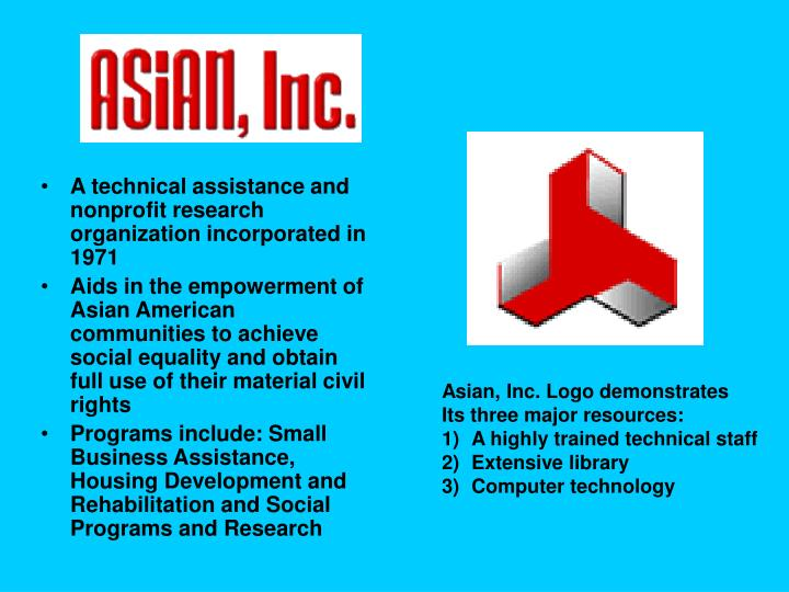 A technical assistance and nonprofit research organization incorporated in 1971