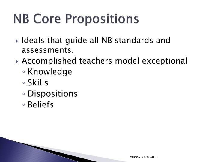 NB Core Propositions