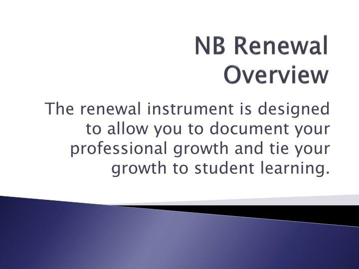 NB Renewal