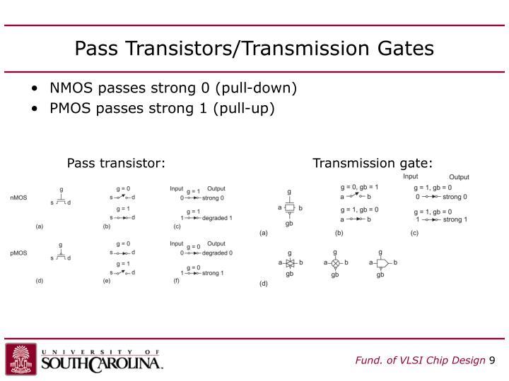 Pass Transistors/Transmission Gates