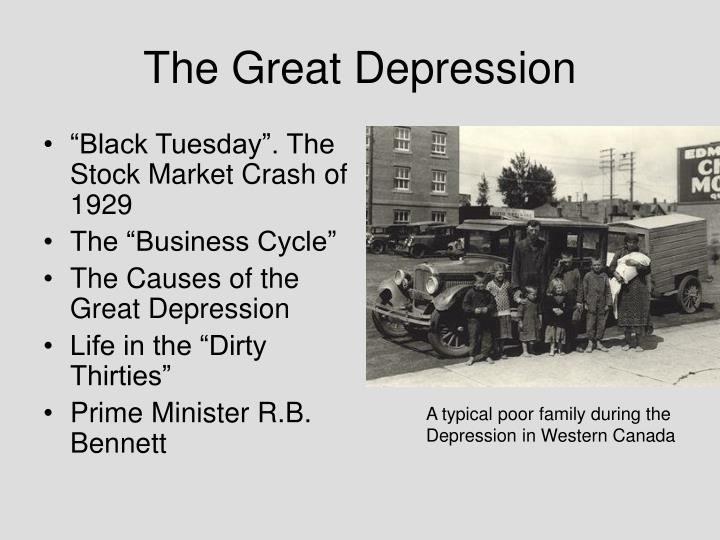 the great depression and the dirty thirties The dirty thirties notes & worksheet name: _____ economy: outcome 41 causes of great depression: business cycle, contributing factors, stock market the business cycle is a pattern of economic growth and decline it has four stages: o prosperity – prices and wages are high, low unemployment, production is.