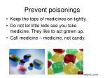 prevent poisonings
