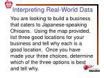 interpreting real world data1