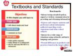 textbooks and standards