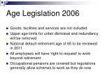 age legislation 200612