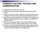 company culture policies and communication