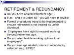 retirement redundancy31