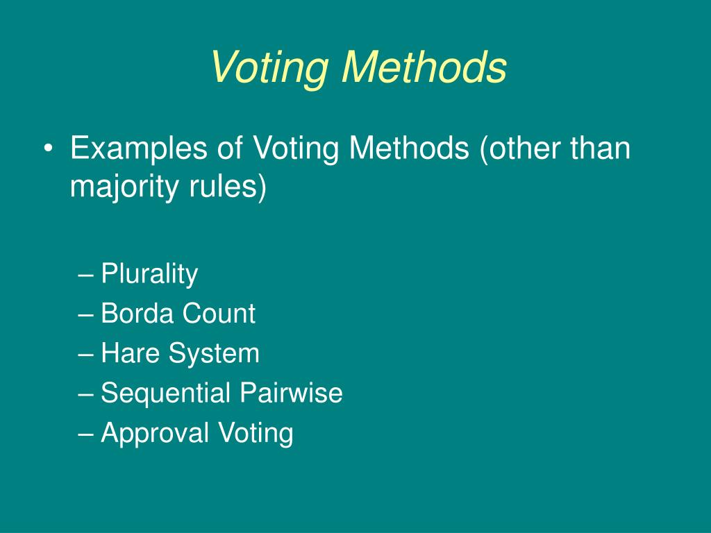 ppt voting methods powerpoint presentation id 478771