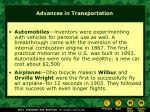 advances in transportation22