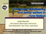 unintended childbearing and family welfare in rural malawi