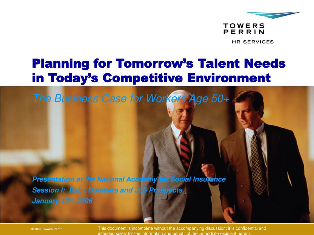 planning for tomorrow s talent needs in today s competitive environment l.