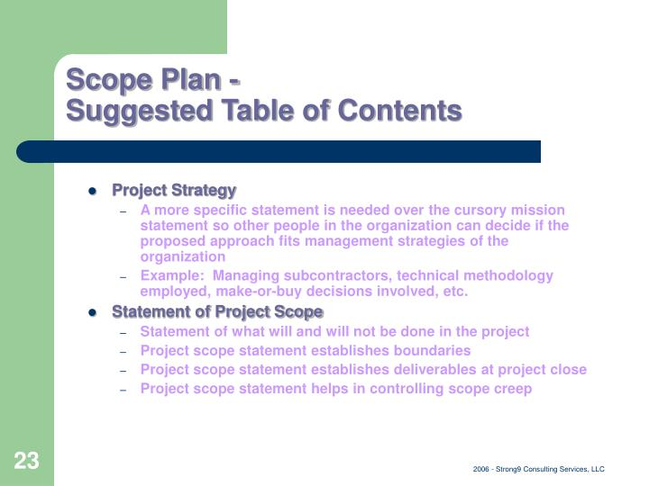 project scope statements for woody 2000 View beth ann lapierre's profile on linkedin --manage project scope and implement change control processes for new statements of work and project plans.