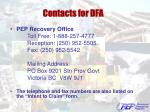contacts for dfa