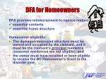 dfa for homeowners