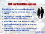 dfa for small businesses