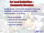for local authorities community recovery