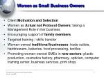 women as small business owners
