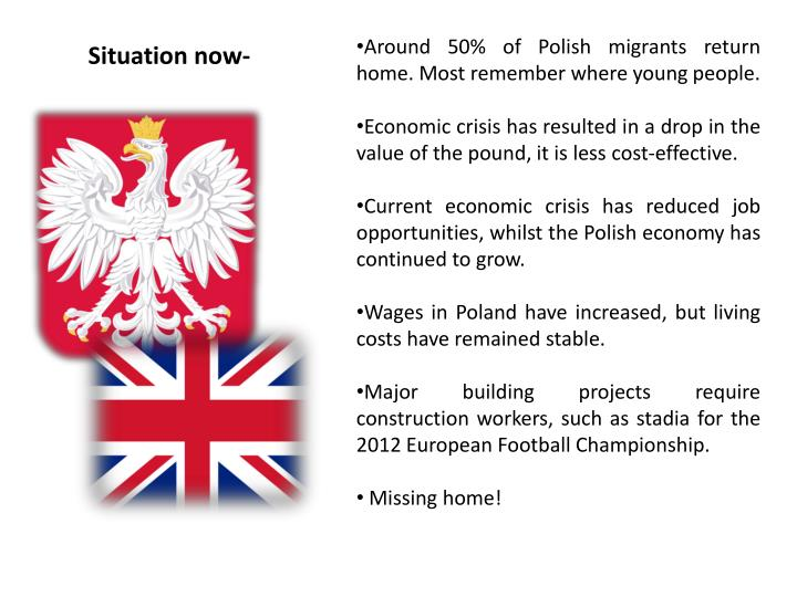 Around 50% of Polish migrants return home. Most remember where young people.