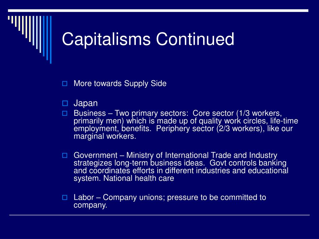 Capitalisms Continued