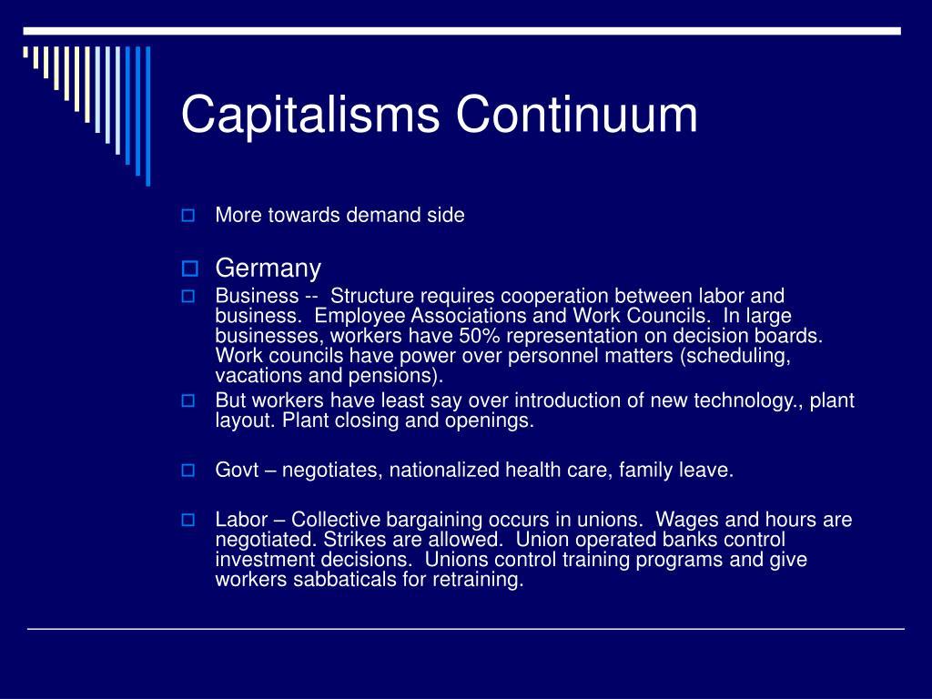 Capitalisms Continuum