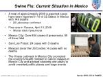 swine flu current situation in mexico