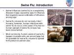 swine flu introduction