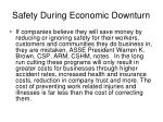 safety during economic downturn