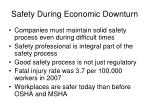 safety during economic downturn19