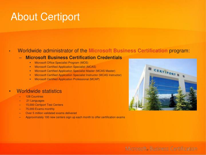 About certiport