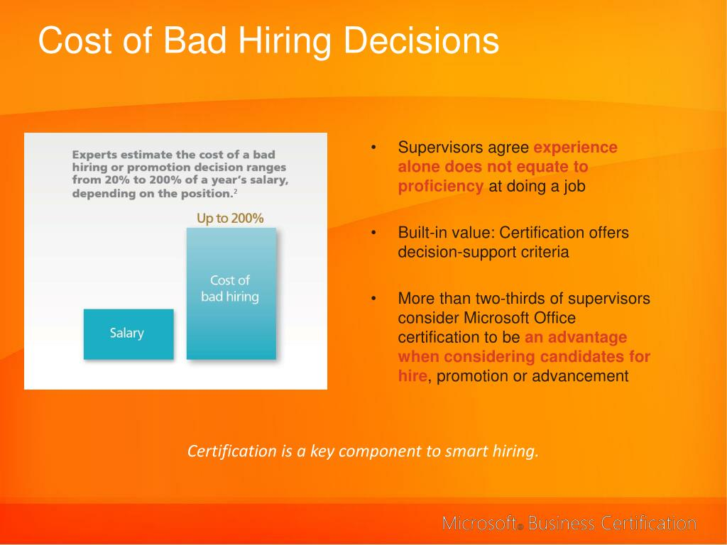 Cost of Bad Hiring Decisions