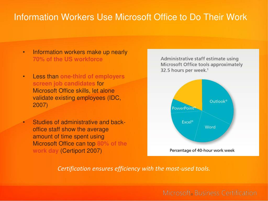 Information Workers Use Microsoft Office to Do Their Work