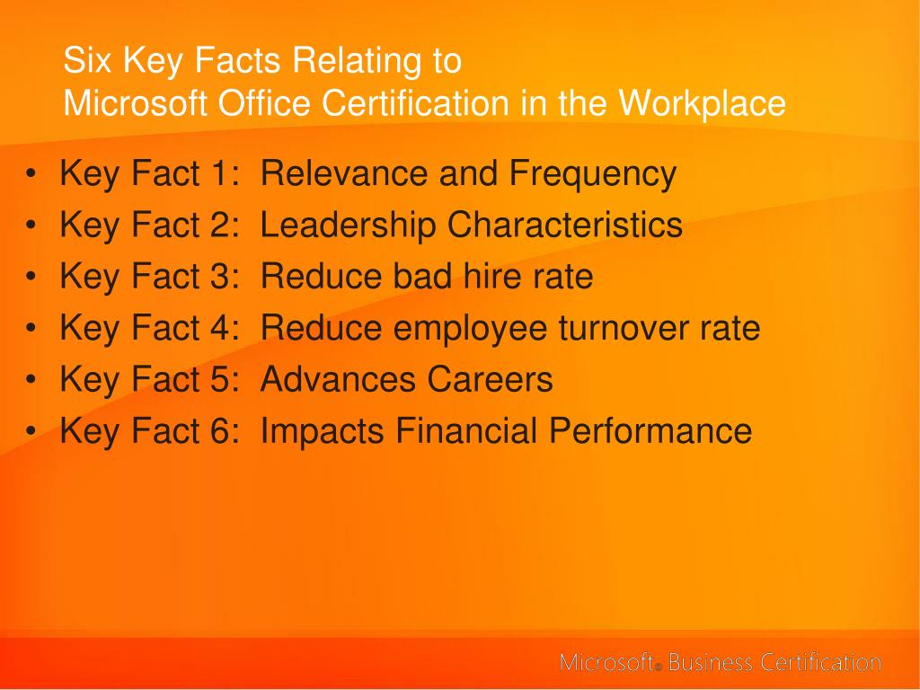 Six Key Facts Relating to