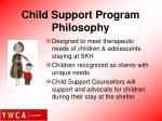 child support program philosophy