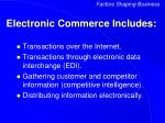 electronic commerce includes