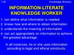information literate knowledge worker